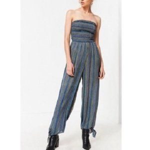 Urban Outfitters XS Strapless Smocked Jumpsuit NWT